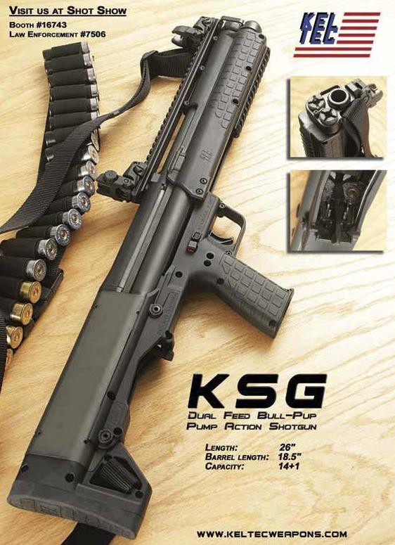 Kel-Tec KSG Bull-pup Shotgun - General Shotgun Discussion